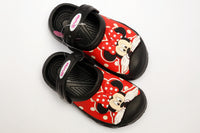 MEDIUM GIRL CHARACTER RUBBER CROCS MINNIE (BLACK) (RED) - 19602