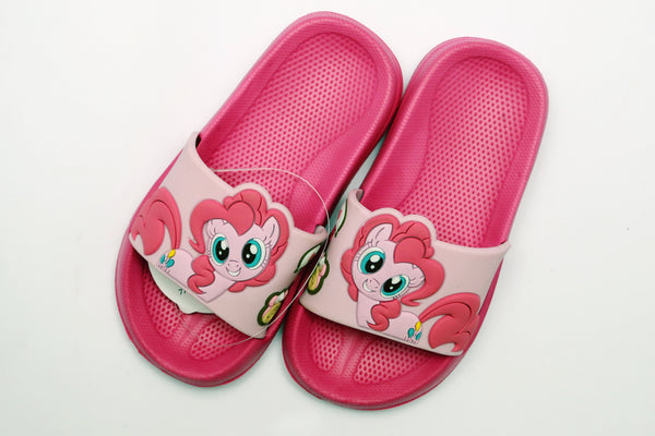 MEDIUM GIRL CHARACTER RUBBER SLIPPER PONY (PINK) - 19603