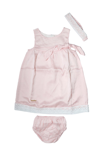 BABY CASUAL FANCY FROCK WITH HEAD BAND