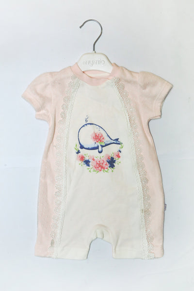 TURKEY BABY SHORT ROMPER - 20467