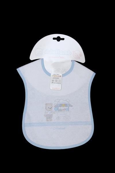 TURKEY BABY BIB BEAR - 20875