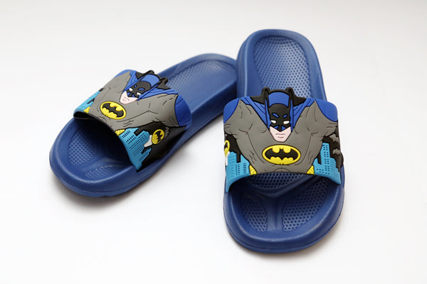 LARGE BOYS CHARACTER RUBBER SLIPPERS BATMAN 24-35 - 21222