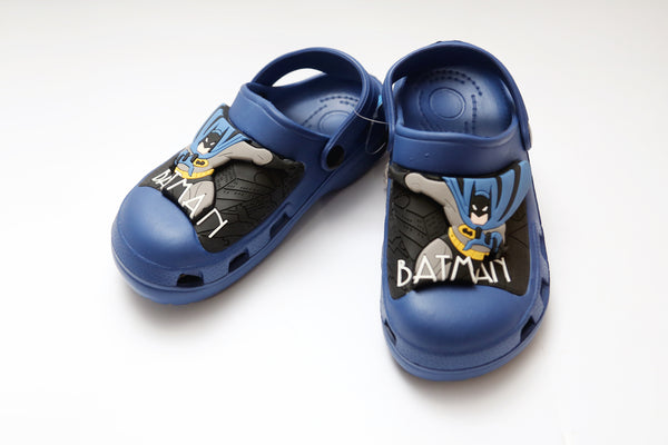 LARGE BOYS CHARACTER RUBBER CROCS BATMAN 30-35 - 21225