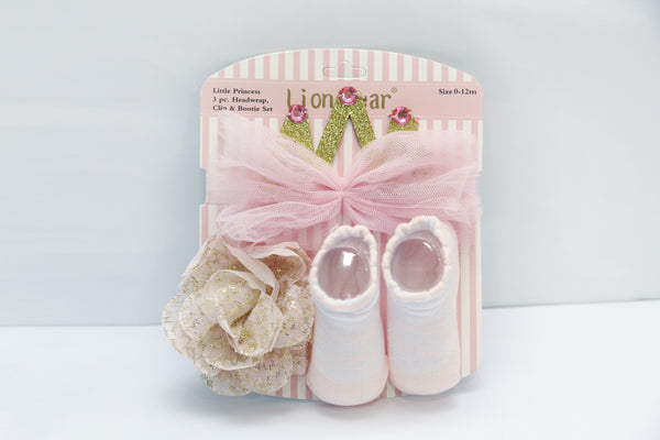 BABY HEAD BAND AND BOOTIES SET - 21294