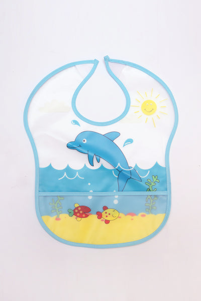 BABY PLASTIC BIB LONG POCKET - 21295