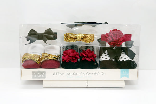 HEADBANDS 3PCS & SOCK PC GIFT SET - 21358