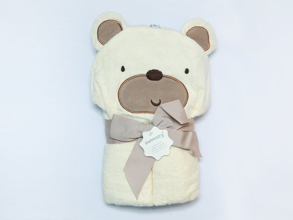 CARTERS HOODED TOWEL CHARACTER BEAR - 21717