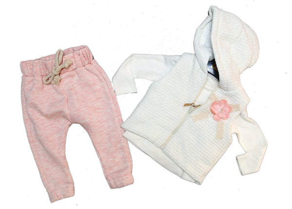 BABY GIRL OUTFIT HOODIE - 22460