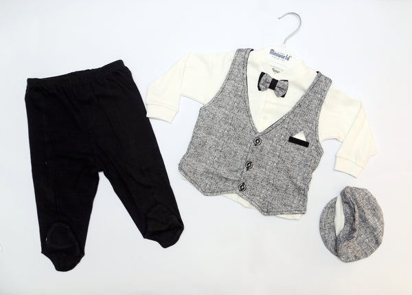 BABY BOY GENTLEMAN OUTFIT WITH CAP - 22580