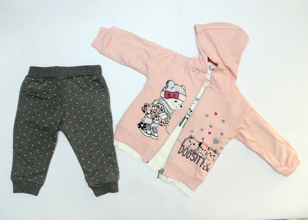 BABY GIRL OUTFIT WITH HOODIE JACKET - 22603