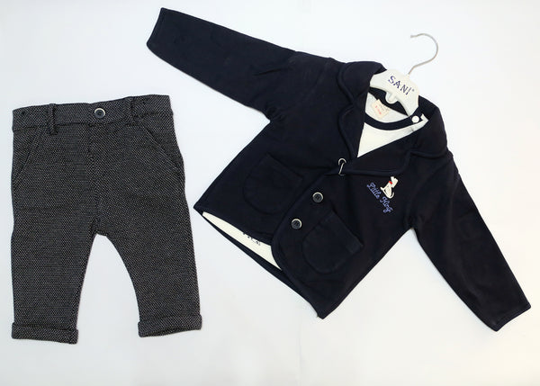 BABY BOY OUTFIT WITH CASUAL COAT - 22604