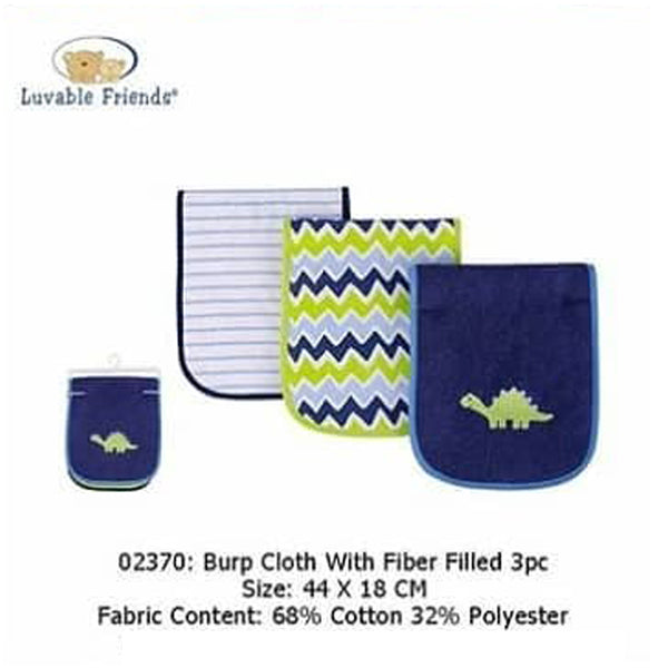 BURP CLOTH W/FIBER FILLED 3PC - 22858