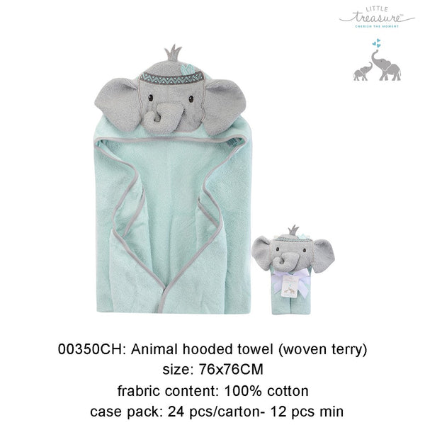 ANIMAL HOODED TOWEL (WOVEN TERRY) - 22881