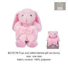 TOYS AND ROLLED BLANKET GIFT SET 2PCS - 22883