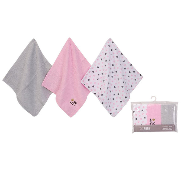 WASH CLOTHS (WOVEN TERRY) 3PC - 22891