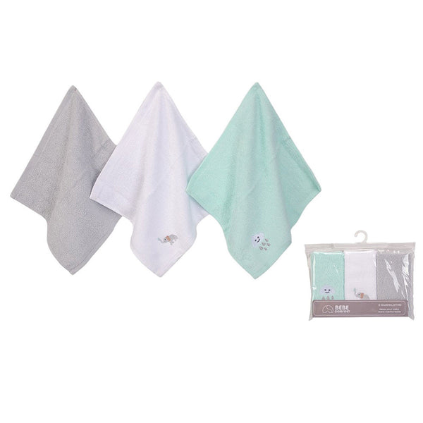 WASH CLOTHS (WOVEN TERRY) 3PC - 22892