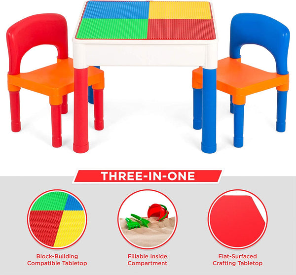 TABLE AND CHAIRS BUILDING BLOCKS - 22991