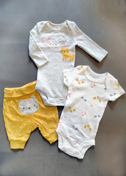 BABY GIRL CARTERS 3PCS SUIT - 23027