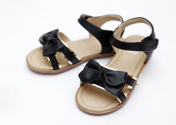 GIRL MEDIUM SANDAL WHITE/BLACK 26-31 - 23200