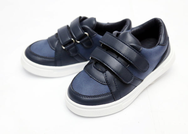 BOY MEDIUM FORMAL SHOES BLACK/NAVY 26-31 - 23203