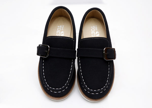 BOY MEDIUM FORMAL SHOES NAVY/BLACK 26-31 - 23204