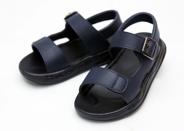 BOY MEDIUM SANDAL BLACK/NAVY 26-31 - 23206