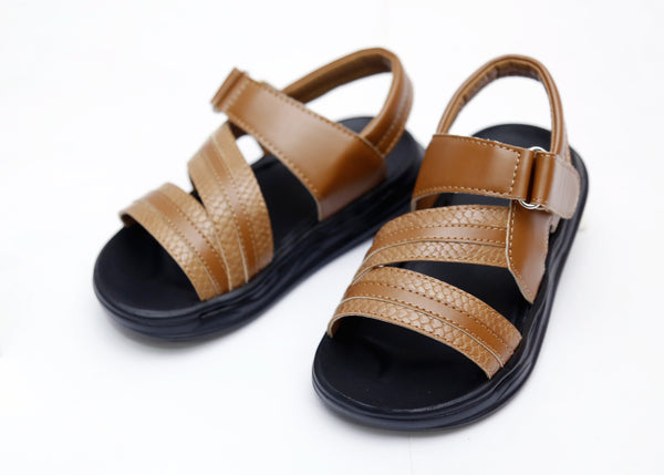 BOY MEDIUM SANDAL BLACK/BROWN 26-31 - 23207