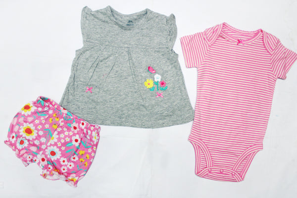 BABY GIRL CARTERS 3PCS SUIT - 24179