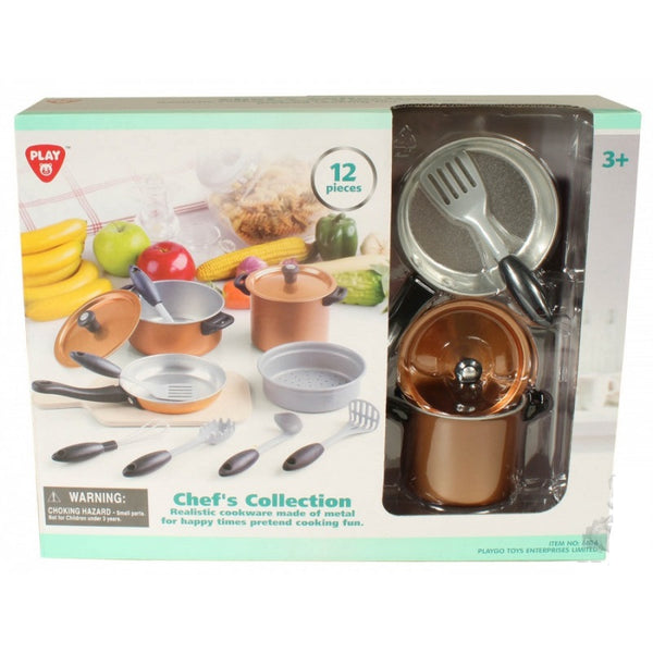 CHEF'S COLLECTION - 12 PCS METAL COOKWARE - 6834