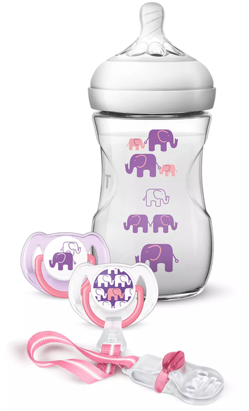 Naturall 260ml Elephant Design Gift Set. - SCD628/13