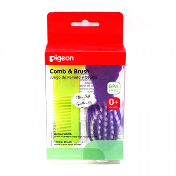 PIGEON BABY COMB & HAIR BRUSH SET - K578