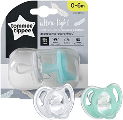 TT 433452 SILICONE SOOTHER 0-6M TWIN NEW IN 3RD QTR