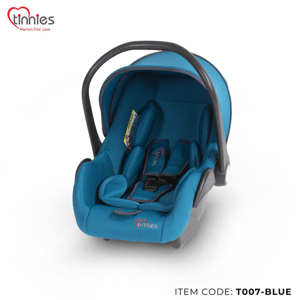 TINNIES BABY CARRY COT BLUE - T007
