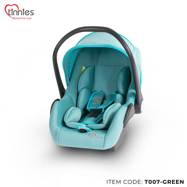 TINNIES BABY CARRY COT GREEN - T007