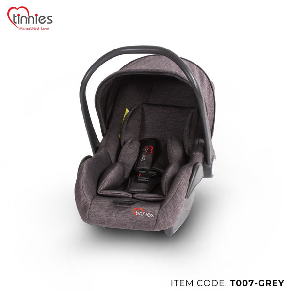 TINNIES BABY CARRY COT GREY - T007