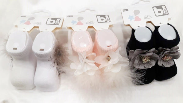 BABY GIRL FANCY SOCKS BOOTIES - 21953
