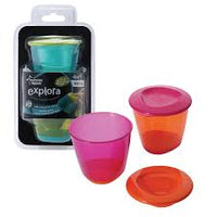 TT 446502 Explora 4 oz Pop Up Weaning Pots (2-pack)