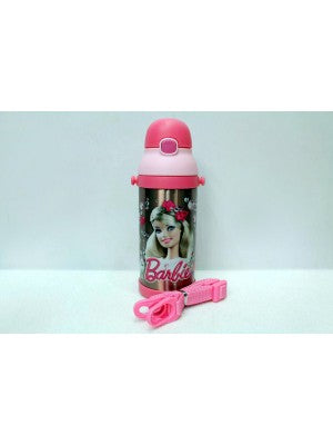 Barbie pink Thermal Metallic Water Bottle