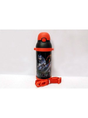 Avengers black Thermal Metallic Water Bottle - MT350
