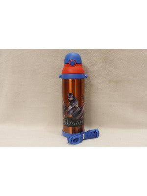 Avengers Red  Thermal Metallic Water Bottle - MT500