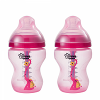 TT 422658 Advanced Anti-Colic Decorated Baby Bottles, Girl – 9 ounce