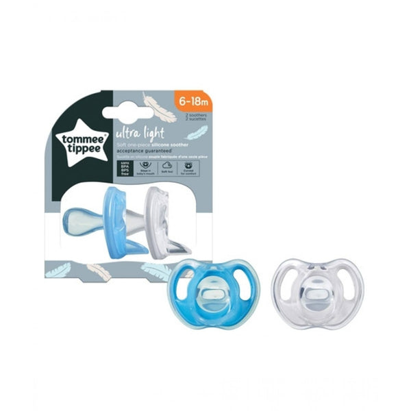 TT 433453 SILICONE SOOTHER 6-18 TWIN NEW IN 3RD QTR