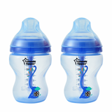 TT 422657 Advanced Anti-Colic Decorated Baby Bottles, Boy – 9 ounce, Blue, 2 count