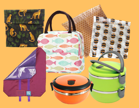 Lunch Wraps, Lunch Bags, Containers
