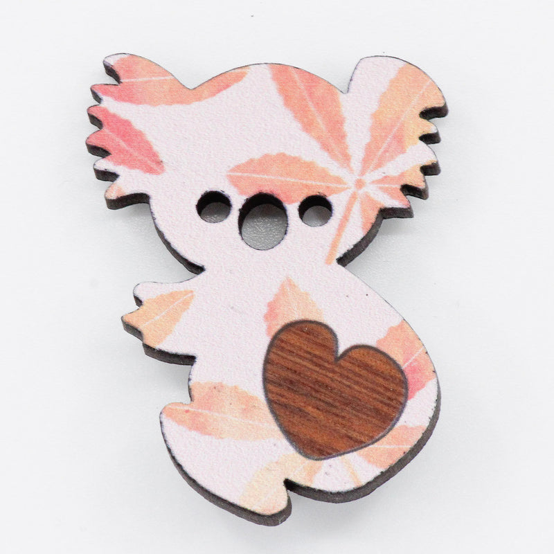 Koala Heart Brooch