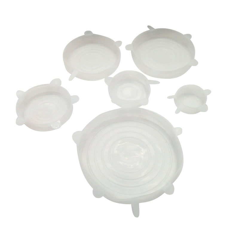 Silicone bowl cover lids - set of 6