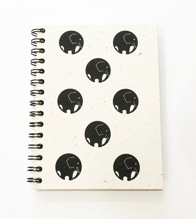 Note Book A5 Spiral Bound - Made from elephant dung paper