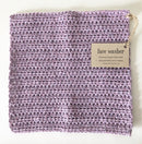 Face Washer Hand Crocheted - Lilac