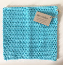 Face Washer Hand Crocheted - Bright Blue
