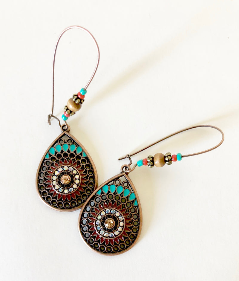 Boho Copper Earrings